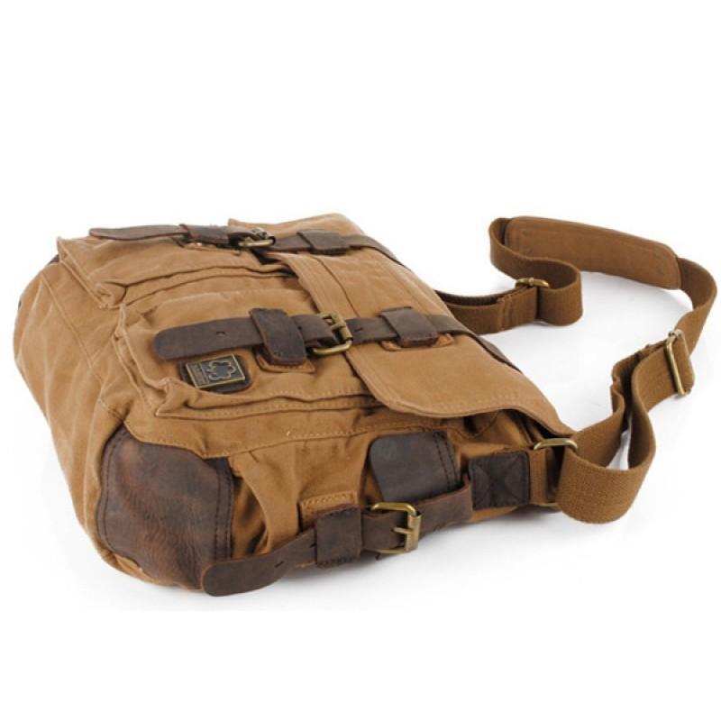 3618b6029c6fe CH2 Chlebak REPORTER TRAVELLER MAX™. Męska torba na ramię XXL. Bawełna -  skóra