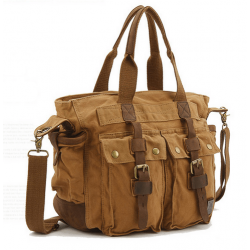 c16f1944d444c CH3 Chlebak MAX REPORTER TRAVELLER™. Męska torba na ramię XL. Bawełna -  skóra