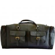 """PH1B. Skórzana torba podróżna męska na ramię """"BLACK EDITION VINTAGE JAIPUR MAX™  Rozmiar: 28"""""""