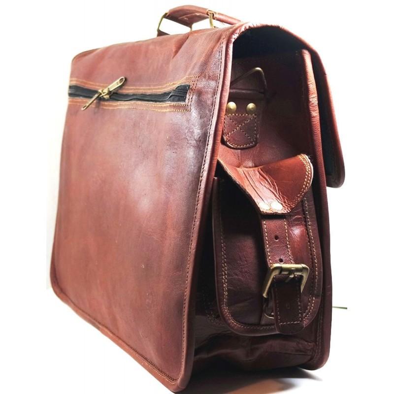 84d87a78230e0 Skórzana listonoszka aktowka GORDON LESACK™ torba na ramię męska. Rozmiar 15