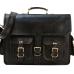 "LH001B. Skórzana listonoszka aktowka GORDON LESACK™ torba na ramię męska. Rozmiar 16""-18"""