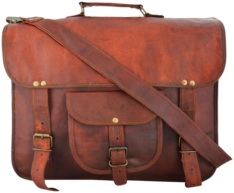 "LH003. Skórzana listonoszka DURHAMLESACK™ torba na ramię męska. Rozmiar 15"""