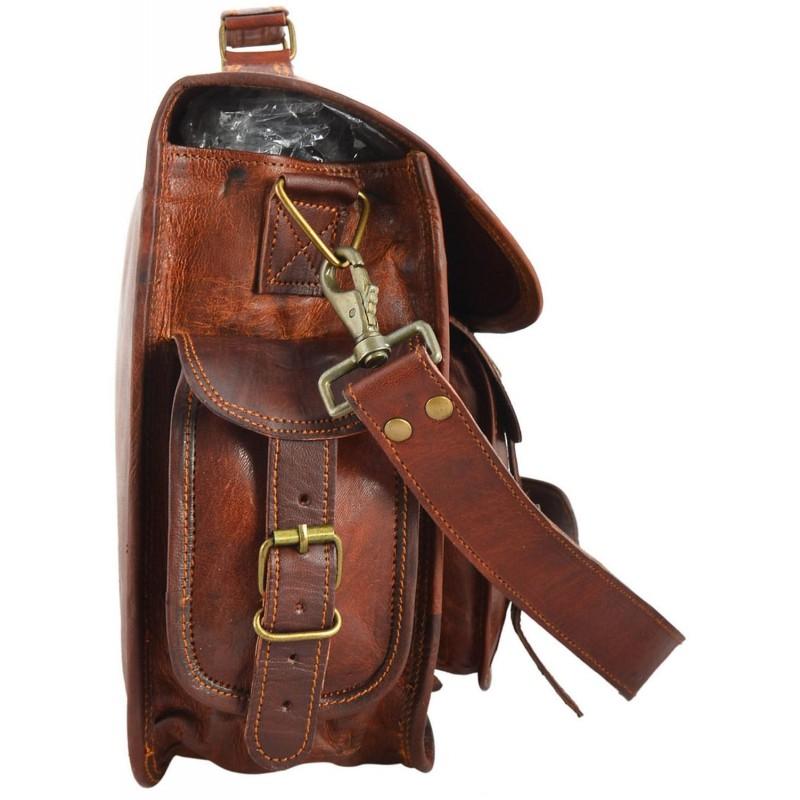 e3add722f7cf1 Skórzana listonoszka GANESH LESACK™ torba na ramię męska. Rozmiar 15