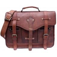 """LH005. Skórzana listonoszka MARAKESH LESACK™ torba na ramię męska. Rozmiar 15"""""""