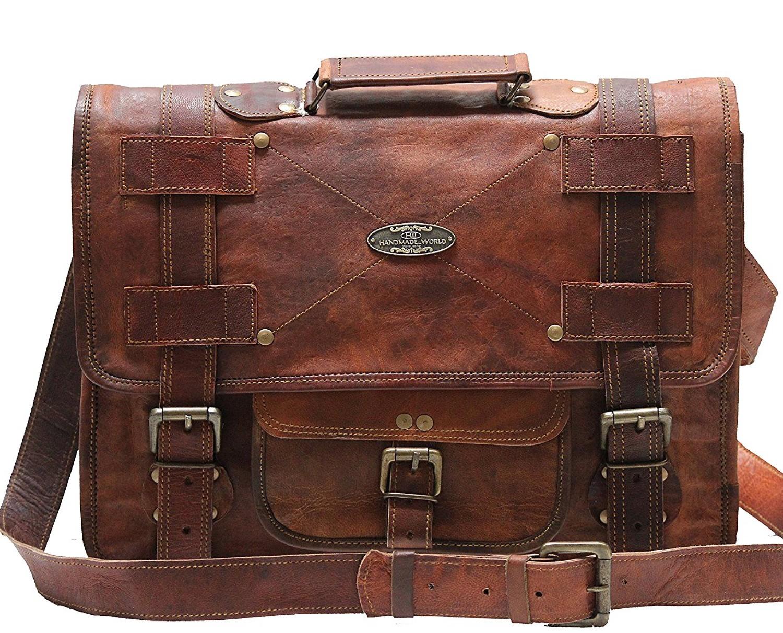 c9292be95d91e Skórzana listonoszka RAZUSTRA LESACK™ torba na ramię męska. Rozmiar 15-18