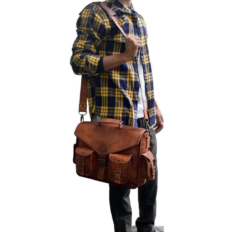 d31311366e3b0 Skórzana listonoszka KANTARA LESACK™ torba na ramię męska. Rozmiar 15