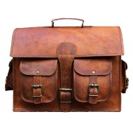 "LH01A. Skórzana listonoszka DAILY II LESACK™ torba na ramię męska. Rozmiar 15"""