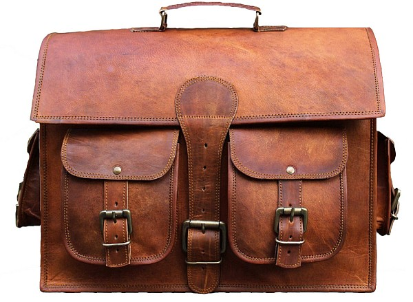 "LH01A. Skórzana listonoszka DAILY II LESACK™ torba na ramię męska. Rozmiar 11"" - 18"""