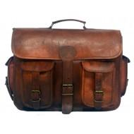 """(uszkodzona) LH01B. Skórzana listonoszka SHIVAH LESACK™ torba na ramię męska. Rozmiar 17"""" (dostawa w 24h)"""