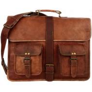 "LH002. Skórzana listonoszka CORRIDOR LESACK™ torba na ramię męska. Rozmiar 16"""