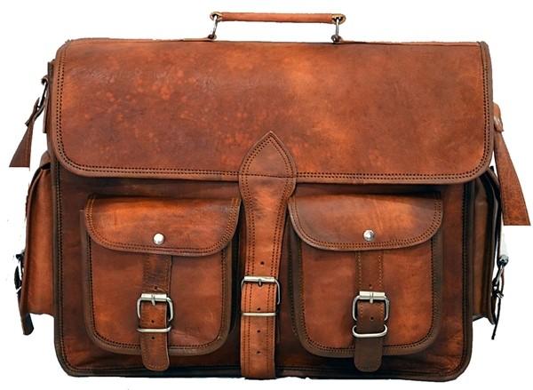 """(24) LH01. Skórzana listonoszka DAILY LESACK™ torba na ramię męska. Rozmiar 16"""" (wersja dla fotografów)"""
