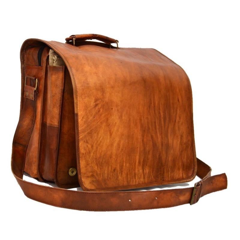 e028031a14bac ☆ LH26 Skórzana listonoszka, męska torba na ramię z grubej skóry w ...