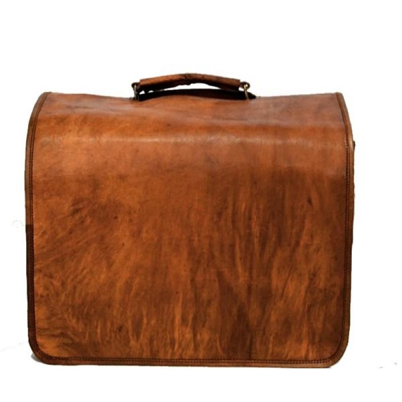 62e8902d0c162 Skórzana listonoszka AMISH LESACK™ torba na ramię męska. Rozmiar 16