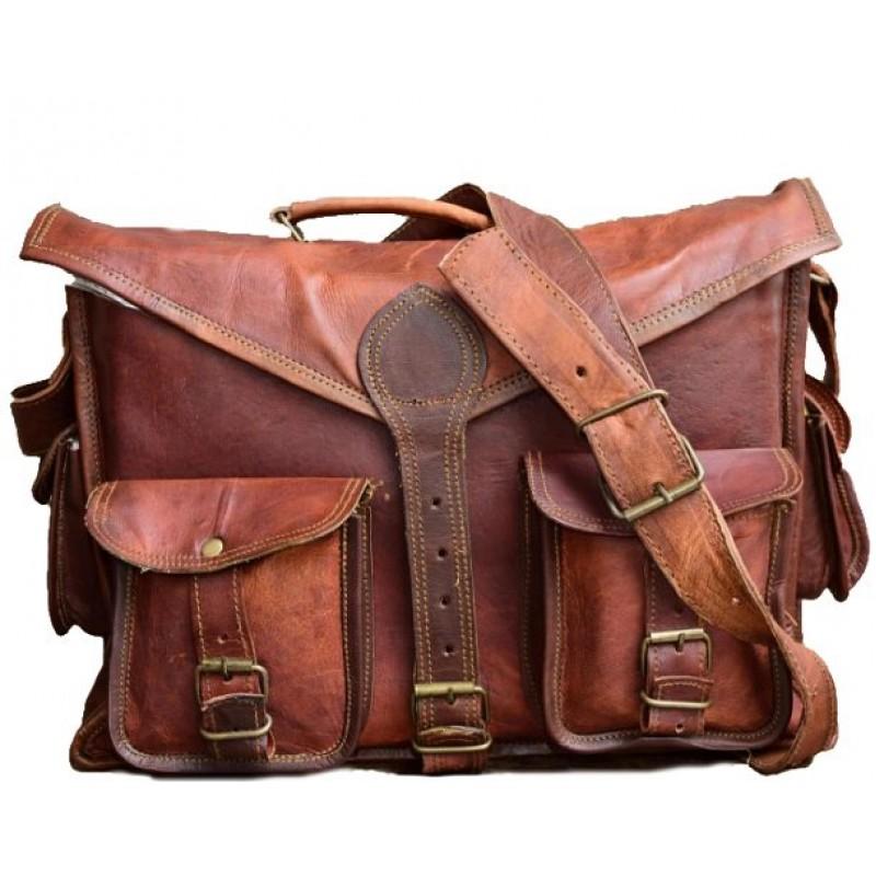 bca516bc71bce Skórzana teczka listonoszka GASTON LESACK™ torba na ramię męska. Rozmiar 15