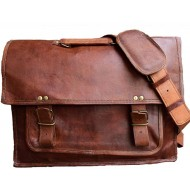 "LH263. Skórzana teczka listonoszka LOTHAR LESACK™ torba na ramię męska. Rozmiar 16"""