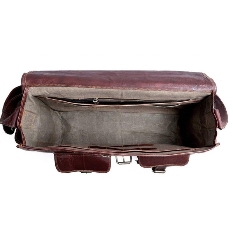 e13941d96c90c Skórzana teczka listonoszka BUSINESS MARK I™ torba na ramię męska. Rozmiar  15