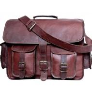 """LH265. Skórzana teczka listonoszka BUSINESS MARK I™ torba na ramię męska. Rozmiar 15"""""""