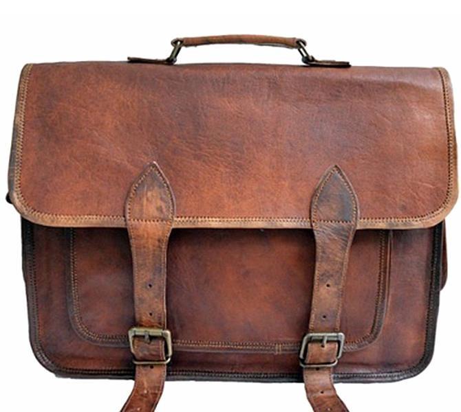 """LH267. Skórzana teczka listonoszka BUSINESS MARK 2™ torba na ramię męska. Rozmiar 14-16"""""""