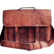 """(24h) LH268. Skórzana teczka listonoszka BUSINESS MARK 2™ torba na ramię męska. Rozmiar 17"""" (dostawa w 24h)"""