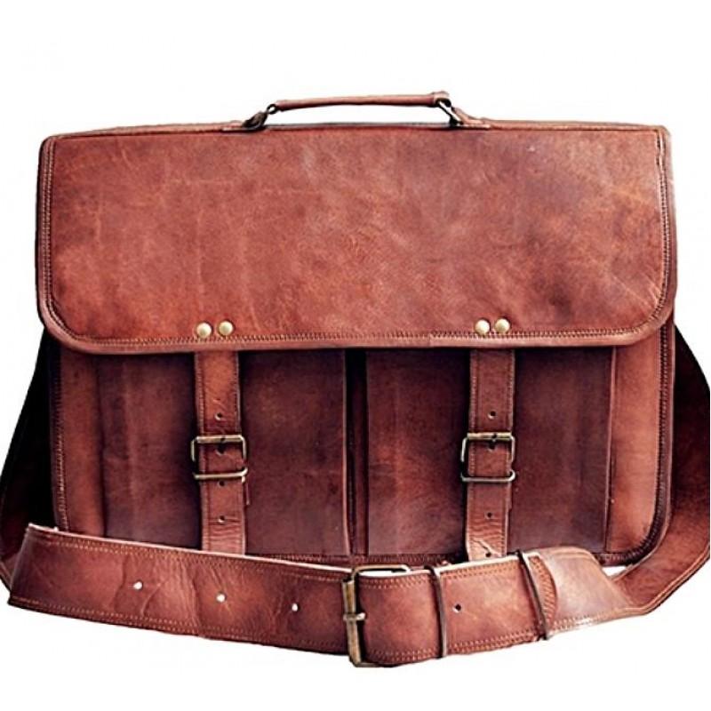 333246afe683e Skórzana teczka listonoszka BUSINESS MARK 2™ torba na ramię męska. Rozmiar  17