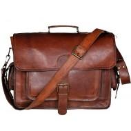 """LH269. Skórzana teczka listonoszka BUSINESS MARK 3™ torba na ramię męska. Rozmiar 15"""" -17"""""""