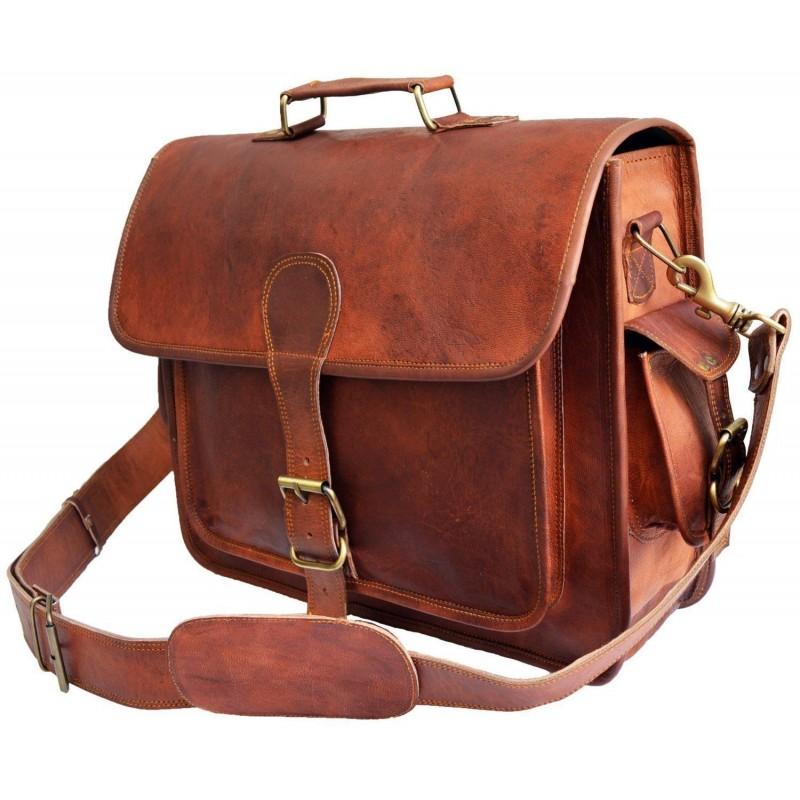 6552cba1888e2 Skórzana teczka listonoszka BUSINESS MARK 3™ torba na ramię męska. Rozmiar  15