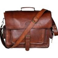 """LH269. Skórzana teczka listonoszka BUSINESS MARK 3™ torba na ramię męska. Rozmiar 15"""" -18"""""""