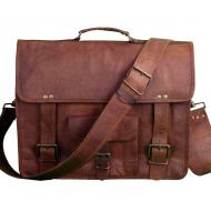 """(24h) LH2681. Skórzana teczka listonoszka SITHAR VINTAGE™ torba na ramię męska. Rozmiar 18"""" (uszkodzona)"""