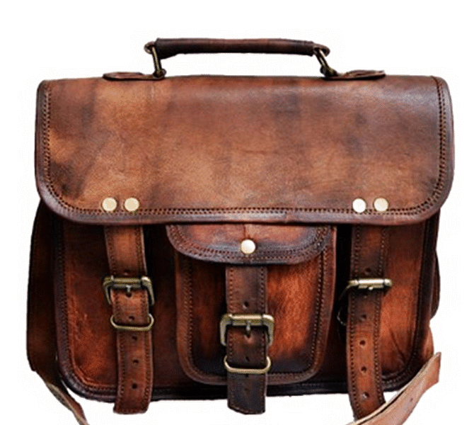 """LH2693. Mała skórzana teczka listonoszka MINOR MARK™ torba na ramię . Rozmiar 11"""""""
