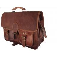 """(24) LH2691. Skórzana teczka listonoszka BUSINESS MARK 4™ torba na ramię męska. Rozmiar 15"""""""
