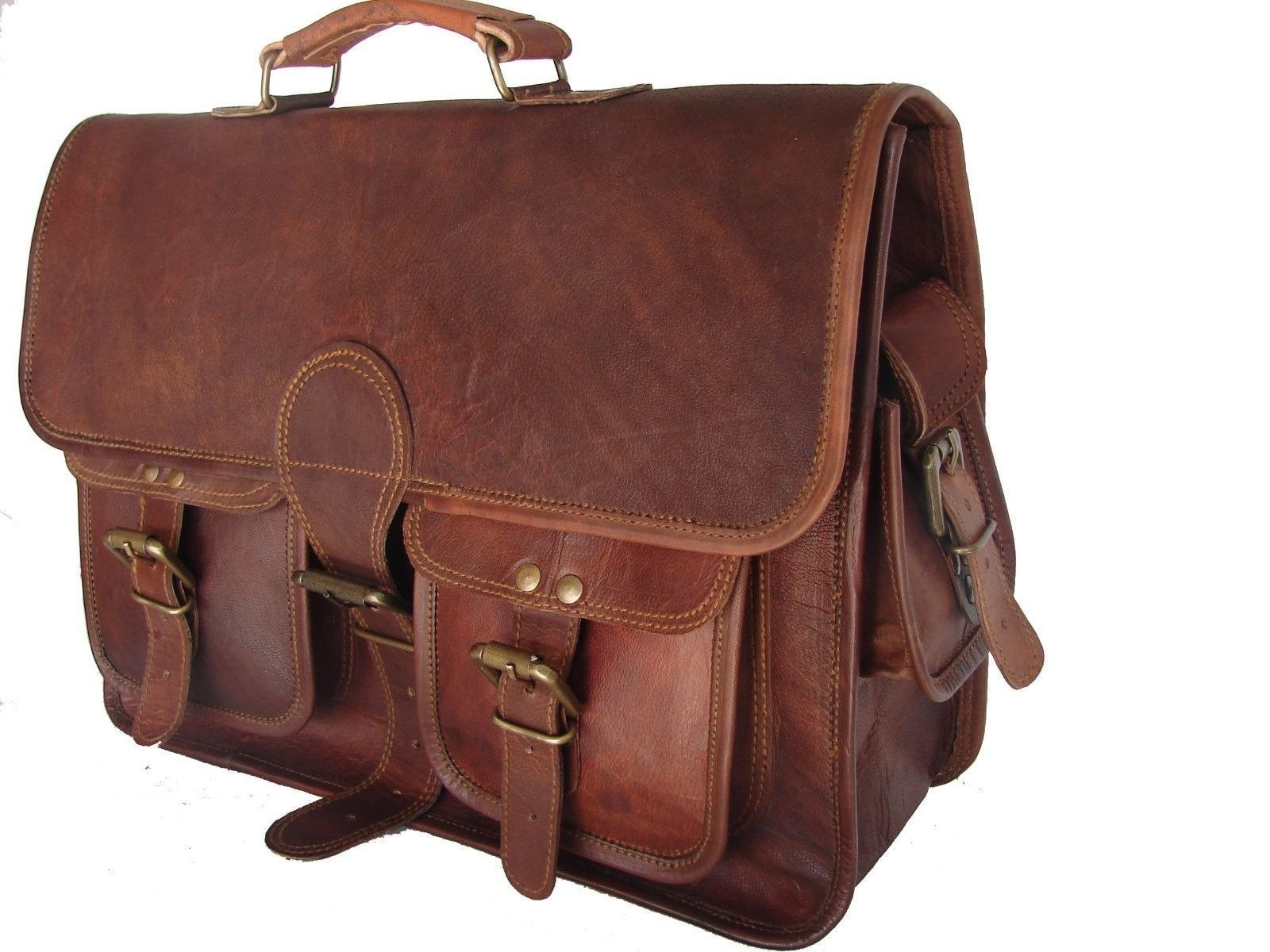 90c49c357bb70 Skórzana teczka listonoszka BUSINESS MARK 4™ torba na ramię męska