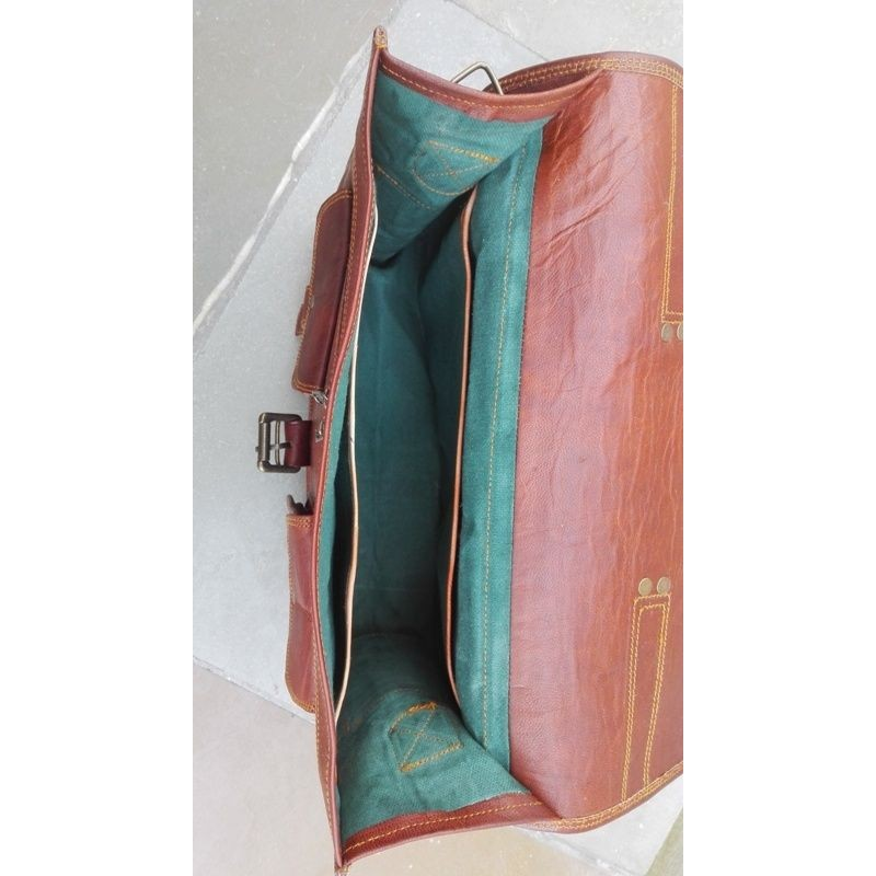 1175f2d02e8cc Skórzana teczka listonoszka BUSINESS MARK 4™ torba na ramię męska. Rozmiar  15