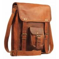 """(24) LH27A. Skórzana raportówka HUNTER 1 LESACK™ torba na ramię męska. Rozmiar 9"""""""