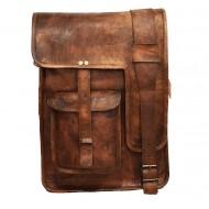 "LH28. Skórzana mała listonoszka RALPH LESACK™ torba na ramię męska. Rozmiar 11"""