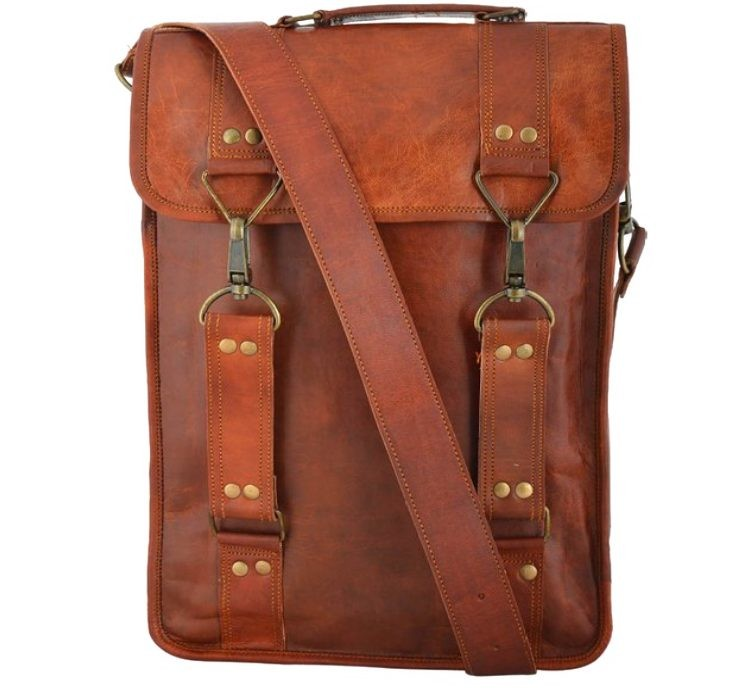 "LH29. Skórzana mała listonoszka RONIN 3 LESACK™ torba na ramię męska. Rozmiar 11"""