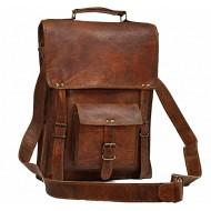 "LH30. Skórzana mała listonoszka RONIN LESACK™ torba na ramię męska. Rozmiar 11"""