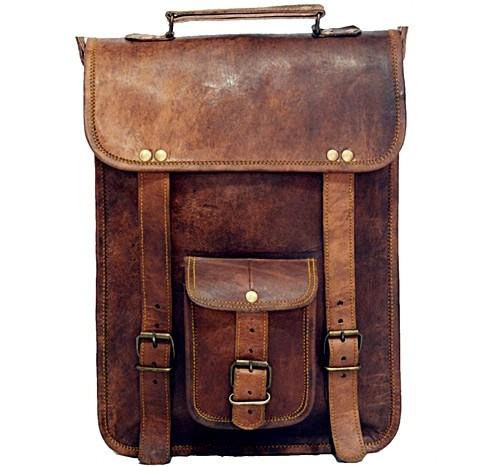 "LH31. Skórzana mała listonoszka RONIN 2 LESACK™ torba na ramię męska. Rozmiar 9"" - 11"""