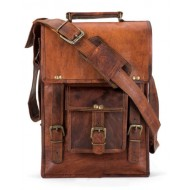 "LH33. Skórzana mała listonoszka TEKSHIVA LESACK™ torba na ramię męska. Rozmiar 11"""