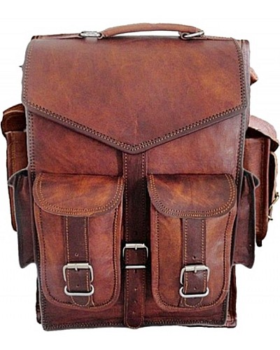 """LH34. Skórzana torba na ramię + plecak VINTAGE KOSTA™ Rozmiar 11"""""""
