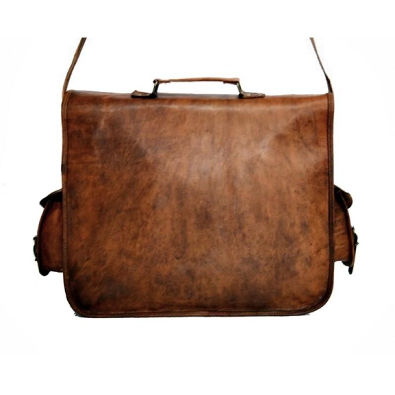 b55d0d714d4e8 Skórzana listonoszka BHUPAL LESACK™ torba na ramię męska. Rozmiar 15