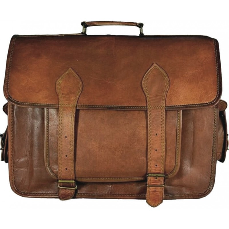 54620db9cb756 Skórzana listonoszka BHUPAL LESACK™ torba na ramię męska. Rozmiar 15