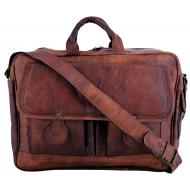 """(uszkodzona) LH08. Skórzana listonoszka DHIMANT LESACK™ torba na ramię męska. Rozmiar 15"""""""