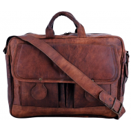 "LH08. Skórzana listonoszka DHIMANT LESACK™ torba na ramię męska. Rozmiar 15"""