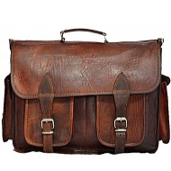 "LH14. Skórzana listonoszka STUDY LESACK™ torba na ramię męska. Rozmiar 16"""