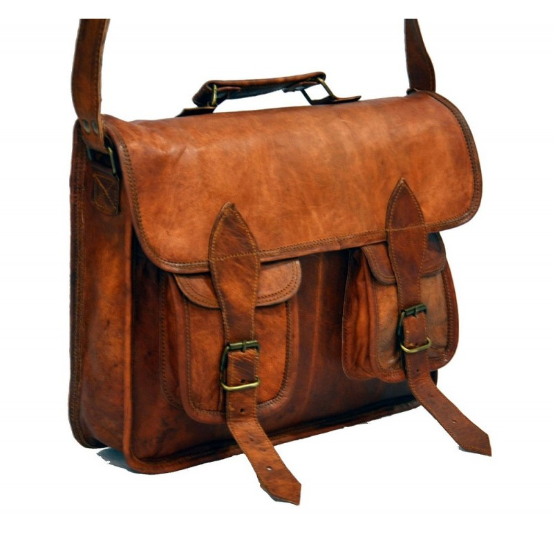 2a9f8382cb7c6 ☆ LH17 Skórzana listonoszka, męska torba na ramię z grubej skóry w ...