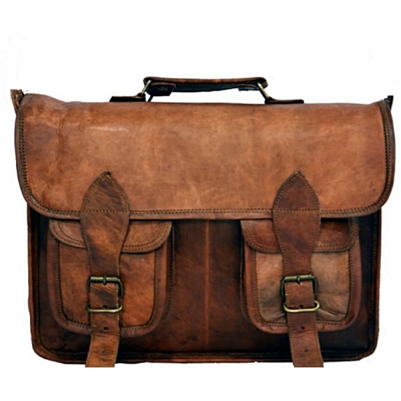 de036a4f52cc6 Skórzana listonoszka MAHESH LESACK™ torba na ramię męska. Rozmiar 13