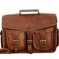 """LH18. Skórzana listonoszka - plecak NIRAV LESACK™ torba na ramię męska. Rozmiar 14"""""""