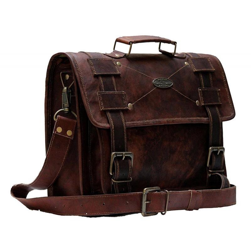 48a4ff9cdd136 LHB5 Skórzana teczka aktowka MALEME LESACK™ torba na ramię męska. Rozmiar  15