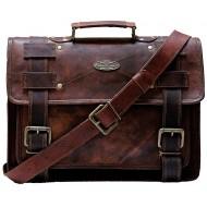 """ILHB5 Skórzana teczka aktowka MALEME LESACK™ torba na ramię męska. Rozmiar 15"""" -18"""""""