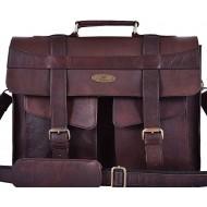 "LHB6 Skórzana teczka aktowka CORSICA LESACK™ torba na ramię męska. Rozmiar 15"" -16"""